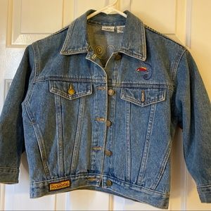 Vintage Disney Pocahontas fringed Jean jacket